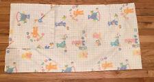 C.Amsinck 1986 Bear Nursery Print Handmade Valence Curtain Lined 80's Baby