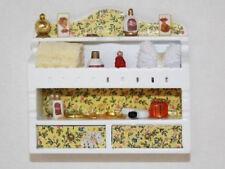 Dolls House Miniature 1:12th Scale Lemon Bathroom Shelf With Accessories