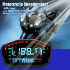 Cylinders Motorcycle Universal LCD Digital Backlight Speedometer Fit For Honda