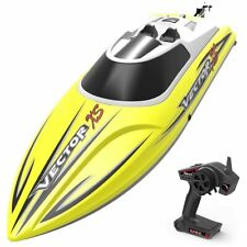 Vector Xs Rc Race Boat 2.4ghz Water Proof Rc Boat 19 Mph ! -Rtr- Yellow