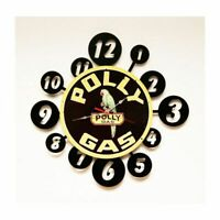 """POLLY GAS STATION GASOLINE 24"""" HEAVY DUTY USA METAL ADVERTISING LAYER WALL CLOCK"""