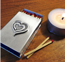 Eve's Heart Stainless Steel Match Box Cover, beautiful for rituals or as gift!