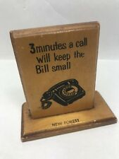 Vintage Retro Mid Century Telephone Pay for Your Call Sign Retro