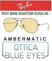 RAYBAN RB 3025 90664A Aviator Evolve ambermatic Sunglasses RAY BAN Photo Yellow