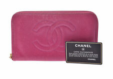 Chanel Leather Wallet Pink 805000928823000