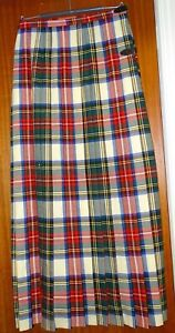 "Vintage Handmade Ladies DRESS STEWART Skirt. Wool: 30"" Waist, 40"" Waist to hem."