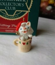 Hallmark Keepsake 1989 Miniature Ornament Sitting Purrty Collectors Club w/Box