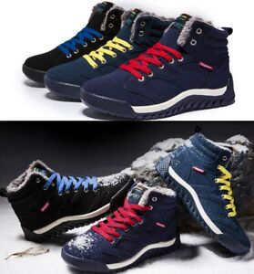 Men's Fur Winter Snow Boots Outdoor Sport Shoes Leisure Warm High Top Sneakers