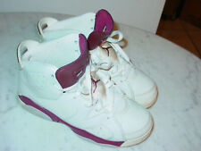 """2015 Nike Air Jordan Retro 6 """"Maroon"""" Off White Youth Basketball Shoes! Size 2Y"""