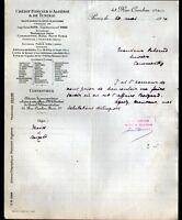 "PARIS (I°) BANQUE ""CREDIT FONCIER d'ALGERIE & de TUNISIE"" en 1910"