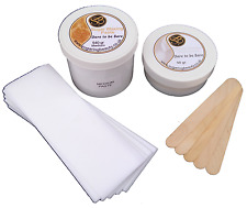540gr Sugar Waxing Paste with Talc, Wax Strips & Spatulas. Gentlest Hair removal