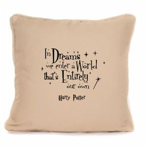 For In Dreams Albus Dumbledore Quote Cushion Cover Harry Potter Fan Gift