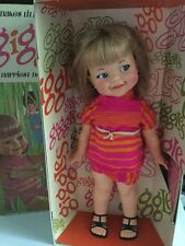 Vintage Ideal Giggles Doll 1967 w/Original Box & Outfit