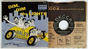 """BILL HALEY& HIS COMETS  - DIM, DIM THE LIGHTS - DECCA - 7"""" EXTENDED PLAY - 1955"""