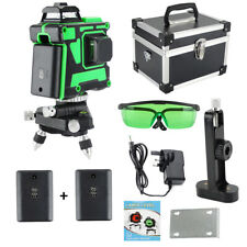 3D Green Beam Self-Leveling Laser Level 12 lines 3 x360 Cross Line Laser Rotary