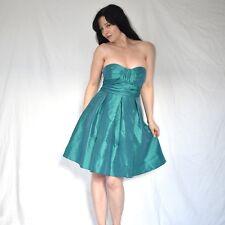 schwingend grünes COCKTAILKLEID* S 36 * Satin Partykleid* Minikleid* Abendkleid