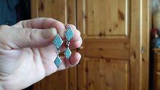 ladies sterling silver and Swarowski earrings