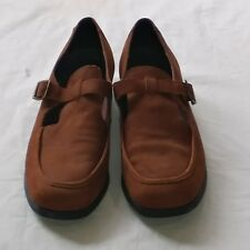 Rockport Womens Size 10M Tan Leather Suede Loafers Shoes Made in Brazil