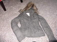 ABERCROMBIE GIRLS L LARGE GREEN FEATHER DOWN WINTER COAT