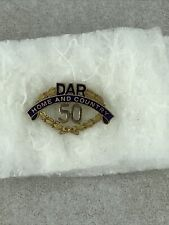 Daughters Of The American Revolution 50 Year Membership Medal GF Pin DAR JEC