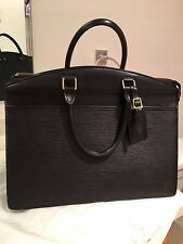 Authentic Louis Vuitton Riviera Black Handbag Noir Epi Leather EUC Work Tote