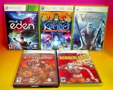 Child of Eden, Viking, Kameo, Overlord, Borderlands - Microsoft Xbox 360 5 Games
