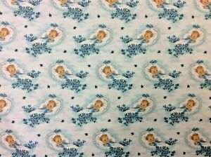 NT92 Retro Infant Newborn Baby Shower Wrapping Paper Style Cotton Quilt Fabric