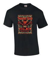 Mens Thunder Road Highway To Hell Motor Oil Devil Graphic T Shirt