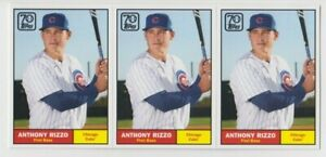 (3) Anthony Rizzo 2021 TOPPS SERIES 1 70 YEARS OF BASEBALL LOT #70YT-11 CUBS NYY