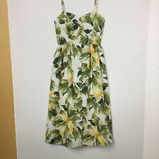 Brand New SS20 H&M Ladies Linen-blend dress White/Lemon UK 18