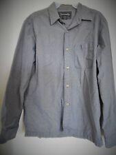 Men's Abercrombie and Fitch Blue Tan Black Plaid  Button Down Shirt  Sz  M