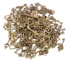 125 Antique Vintage Old LookBronze Skeleton Keys Fancy Heart Bow Decor Diy Craft