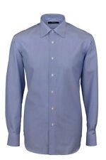 Camicia Ingram Regular Fit Azzurro mille righe 100% Cotone No Stiro Taglia 43 XL