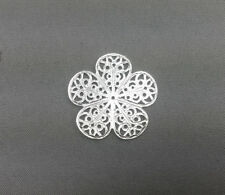20 Silver Plated 26mm Flower Filigrees Findings 40730