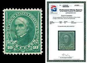 Scott 273 1895 10c Webster Issue Used XF Light Cancel with PSE CERTIFICATE!