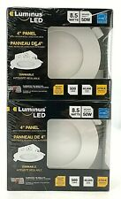 Luminus Dimmable LED with Integrated Junction Box | 4 inch Panel | 2 Pack DDE03