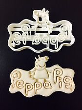 peppa pig LOGO cookie cutter best for fondant gum paste cake topper UK SELLER