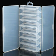 Double Sided Fishing Lure Hooks Tackle Storage Box Case Clear Waterproof