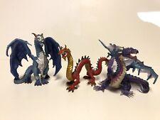 Lot of 3 Dragon Figures Guardian Dragon Safari Ltd 1014, Red 0914 & 0614