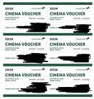 Odean cinema tickets x6 valid to 10/10/22