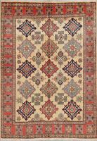 Kazak Oriental Area Rug Wool Hand-Knotted All-Over Geometric NEW 5 x 7 Carpet