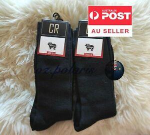 6 Pairs 6-11 95% Merino Wool Warm Thermal Woolen Hiking Dress Socks BLACK MEN