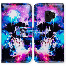 Bcov Skull Colorful Sky Wallet Leather Cover Case For Samsung Galaxy S9 Plus/+