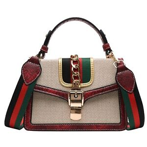 Leather Handbag Shoulder Cross Body Messenger Vintage Mini Purse, Ladies Woman