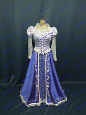 Disney Princess Rapunzel Costume Adult Size 6 8 10 12 14 16 Embroidery in Satin Size 8