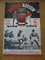17/02/1962 Manchester United v Sheffield Wednesday [FA Cup] (Creased, Folded, Ma