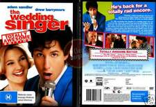 THE WEDDING SINGER Adam Sandler Drew Barrymore NEW DVD (Region 4 Australia)