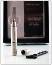 Groom Mate Platinum XL Professional Nose Hair Trimmer - Gift Box, Pouch & Brush