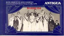 BARBUDA OVERPRINTED CPL UNEXPLODED SILVER JUBILEE QUEEN ELIZABETH  II BOOKLET