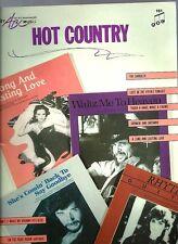 HOT COUNTRY songbook 1986 Eddie Rabbit & Crystal Gayle sheet music Waylon